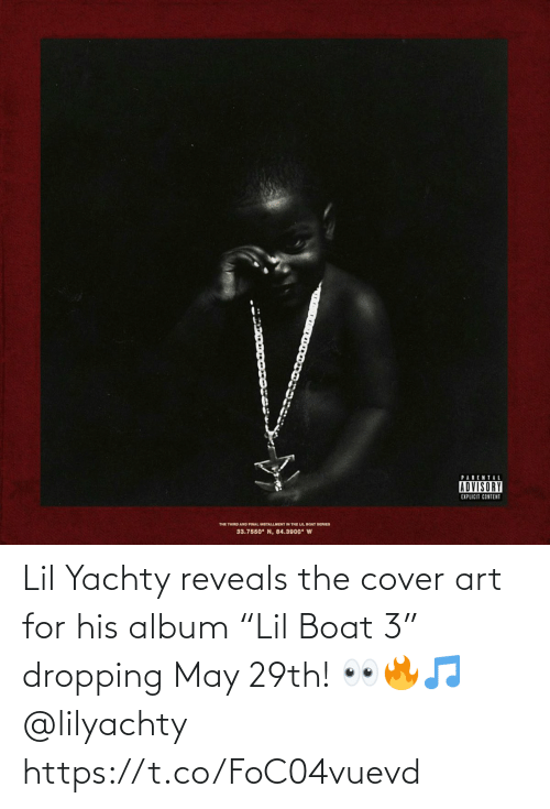 "Cover: Lil Yachty reveals the cover art for his album ""Lil Boat 3"" dropping May 29th! 👀🔥🎵 @lilyachty https://t.co/FoC04vuevd"