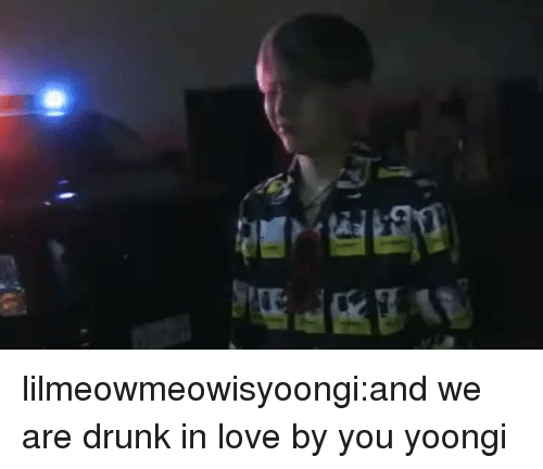 Drunk, Love, and Tumblr: lilmeowmeowisyoongi:and we are drunk in love by you yoongi