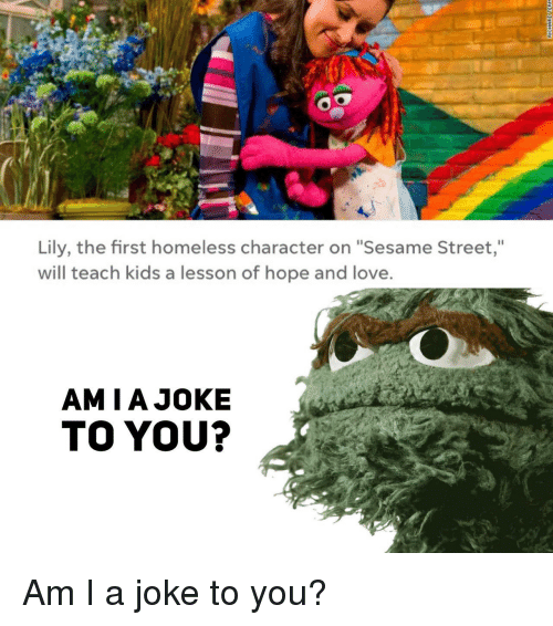 Lily the First Homeless Character on Sesame Street Will