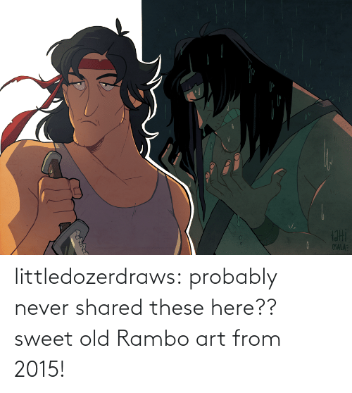 Rambo: littledozerdraws:  probably never shared these here?? sweet old Rambo art from 2015!