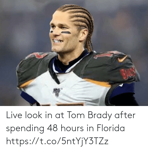 After: Live look in at Tom Brady after spending 48 hours in Florida https://t.co/5ntYjY3TZz
