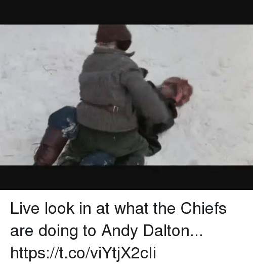 Andy Dalton: Live look in at what the Chiefs are doing to Andy Dalton... https://t.co/viYtjX2cIi
