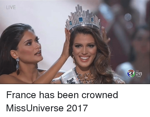 Missuniverse: LIVE  so  3  28 France has been crowned MissUniverse 2017