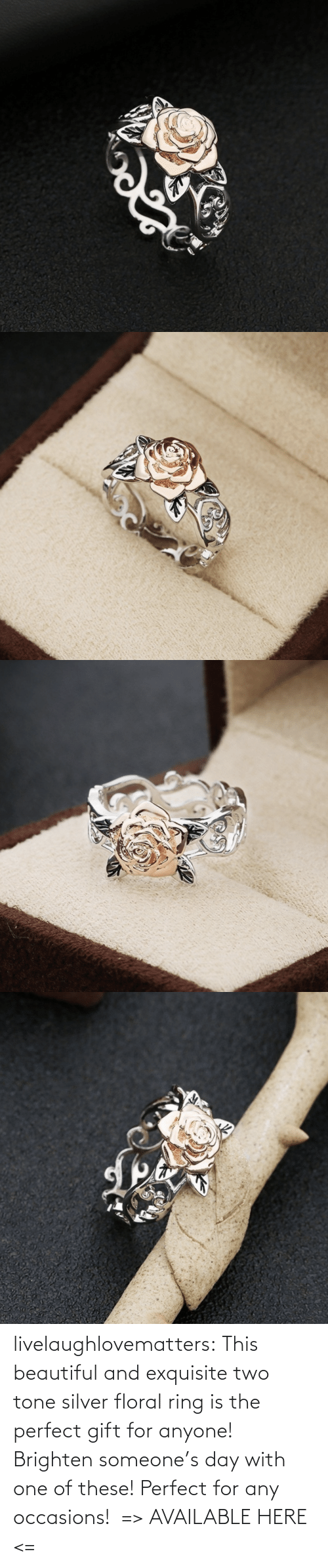 ring: livelaughlovematters: This beautiful and exquisite two tone silver floral ring is the perfect gift for anyone! Brighten someone's day with one of these! Perfect for any occasions!  => AVAILABLE HERE <=