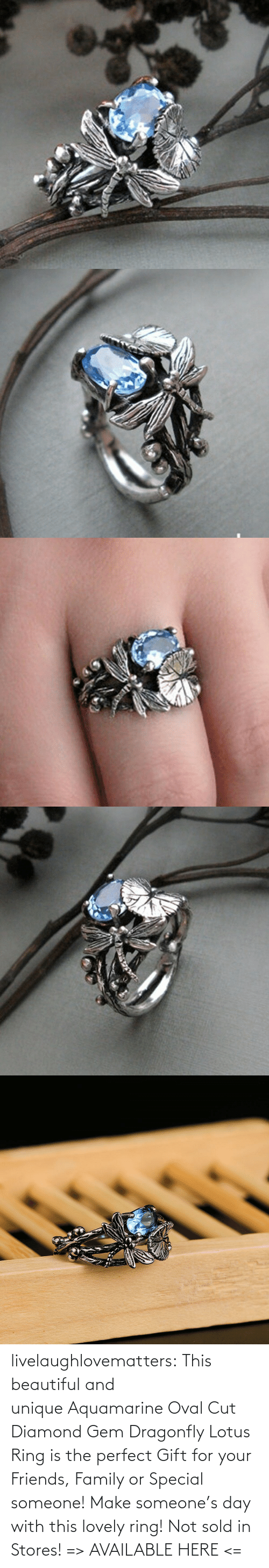 beautiful: livelaughlovematters: This beautiful and unique Aquamarine Oval Cut Diamond Gem Dragonfly Lotus Ring is the perfect Gift for your Friends, Family or Special someone! Make someone's day with this lovely ring! Not sold in Stores! => AVAILABLE HERE <=