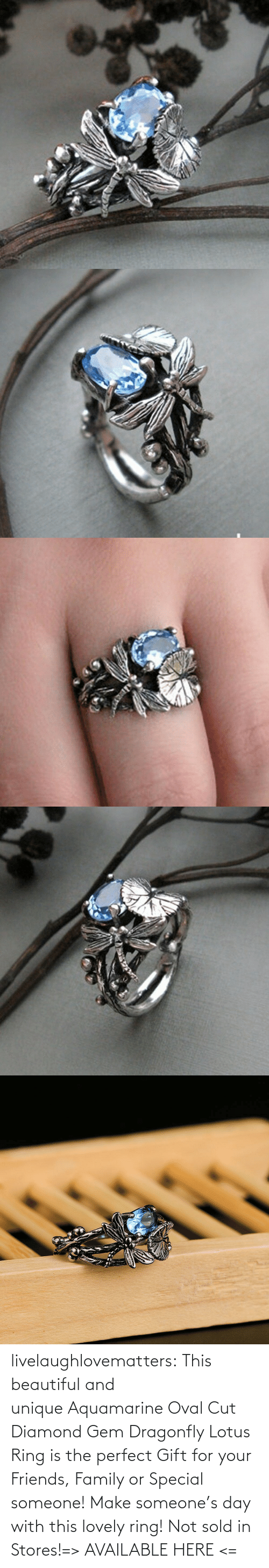 beautiful: livelaughlovematters:  This beautiful and unique Aquamarine Oval Cut Diamond Gem Dragonfly Lotus Ring is the perfect Gift for your Friends, Family or Special someone! Make someone's day with this lovely ring! Not sold in Stores!=> AVAILABLE HERE <=