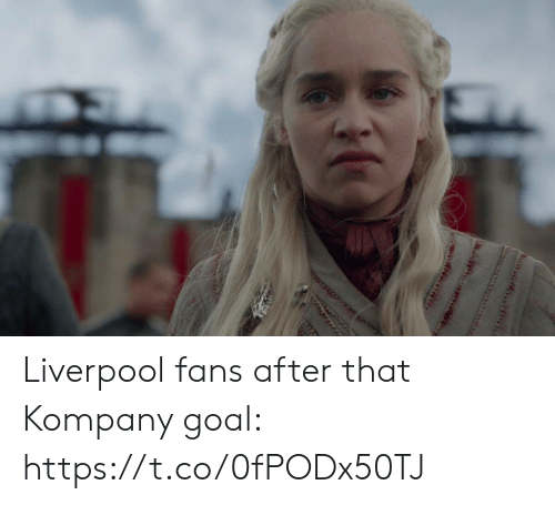 Soccer, Liverpool F.C., and Goal: Liverpool fans after that Kompany goal: https://t.co/0fPODx50TJ