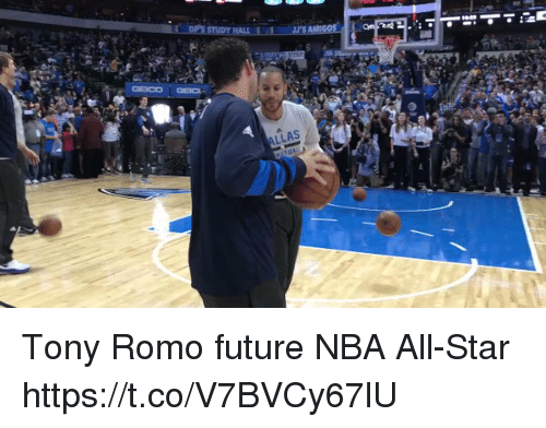 nba all stars: LLAS Tony Romo future NBA All-Star https://t.co/V7BVCy67lU