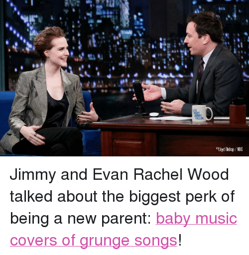 """new parent: Lloyd Bishop / NBC <p><span>Jimmy and Evan Rachel Wood talked about the biggest perk of being a new parent: </span><a href=""""http://www.latenightwithjimmyfallon.com/blogs/2013/11/evan-rachel-wood-is-a-new-parent-picked-up-a-romanian-accent/"""" target=""""_blank"""">baby music covers of grunge songs</a><span>!</span></p>"""
