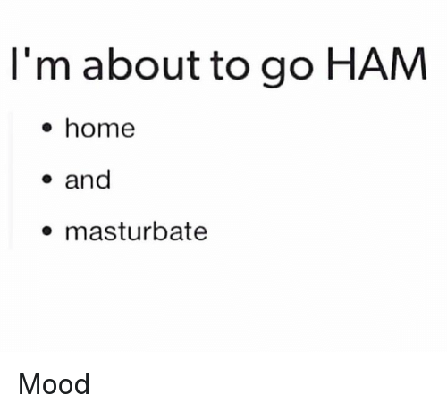Mood, Home, and Dank Memes: l'm about to go HAM  e home  - and  masturbate Mood