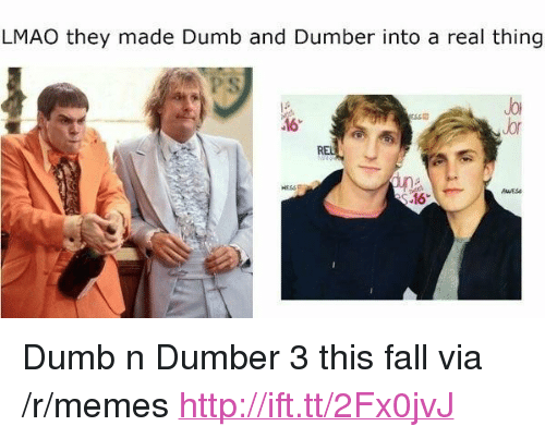 """sse: LMAO they made Dumb and Dumber into a real thing  Jor  Jor  SSE  .16 <p>Dumb n Dumber 3 this fall via /r/memes <a href=""""http://ift.tt/2Fx0jvJ"""">http://ift.tt/2Fx0jvJ</a></p>"""