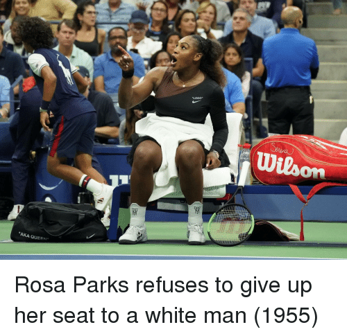 """Rosa Parks: """"LOGO""""  """"AKA QUEEN"""" Rosa Parks refuses to give up her seat to a white man (1955)"""