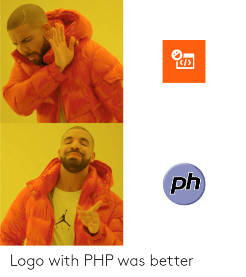 logo: Logo with PHP was better