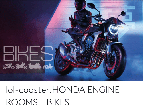 Honda, Lol, and Tumblr: lol-coaster:HONDA ENGINE ROOMS - BIKES