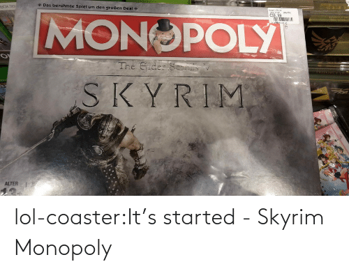 novelty: lol-coaster:It's started - Skyrim Monopoly