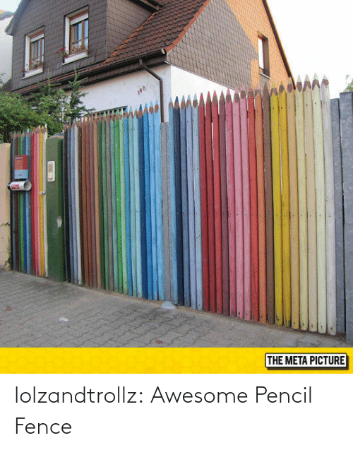 Awesome: lolzandtrollz:  Awesome Pencil Fence
