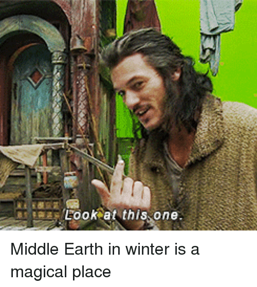 A Magical Place: Look at this one Middle Earth in winter is a magical place