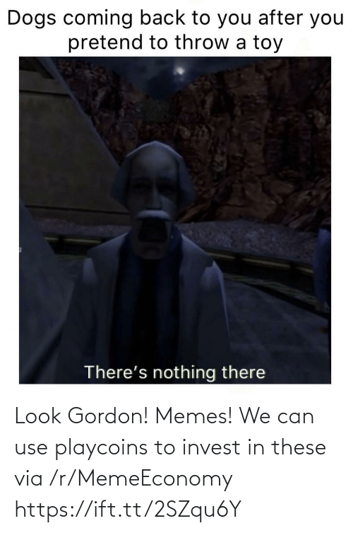 Gordon: Look Gordon! Memes! We can use playcoins to invest in these via /r/MemeEconomy https://ift.tt/2SZqu6Y