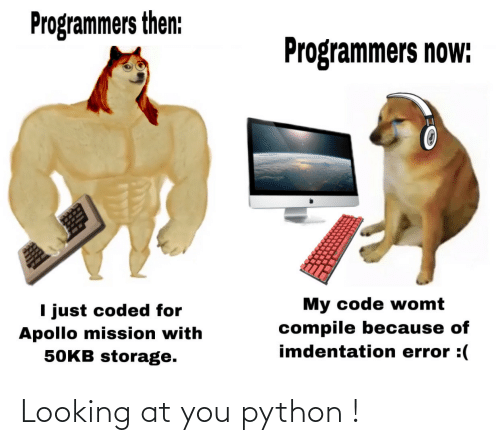 python: Looking at you python !