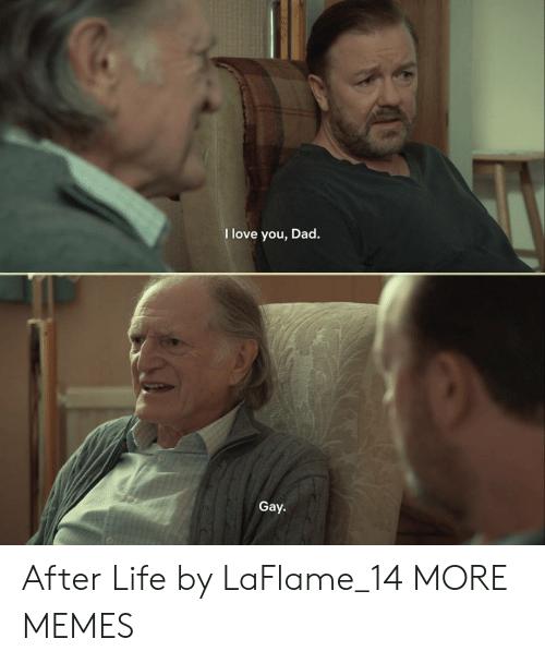Dad, Dank, and Life: love you, Dad.  Gay. After Life by LaFlame_14 MORE MEMES