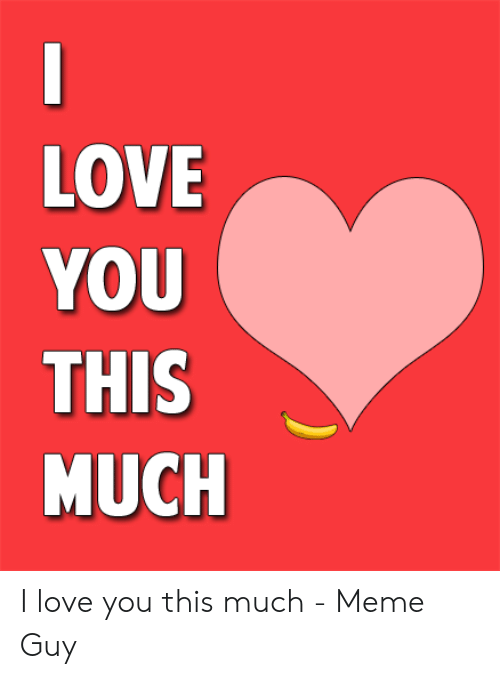 Love, Meme, and I Love You: LOVE  YOU  THIS  MUCH I love you this much - Meme Guy