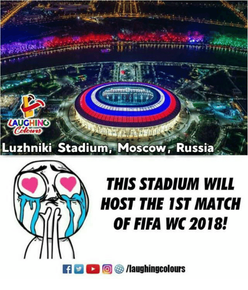 Fifa, Match, and Russia: Luzhniki Stadium Moscow ,Russia  THIS STADIUM WILL  HOST THE 1ST MATCH  OF FIFA WC 2018!