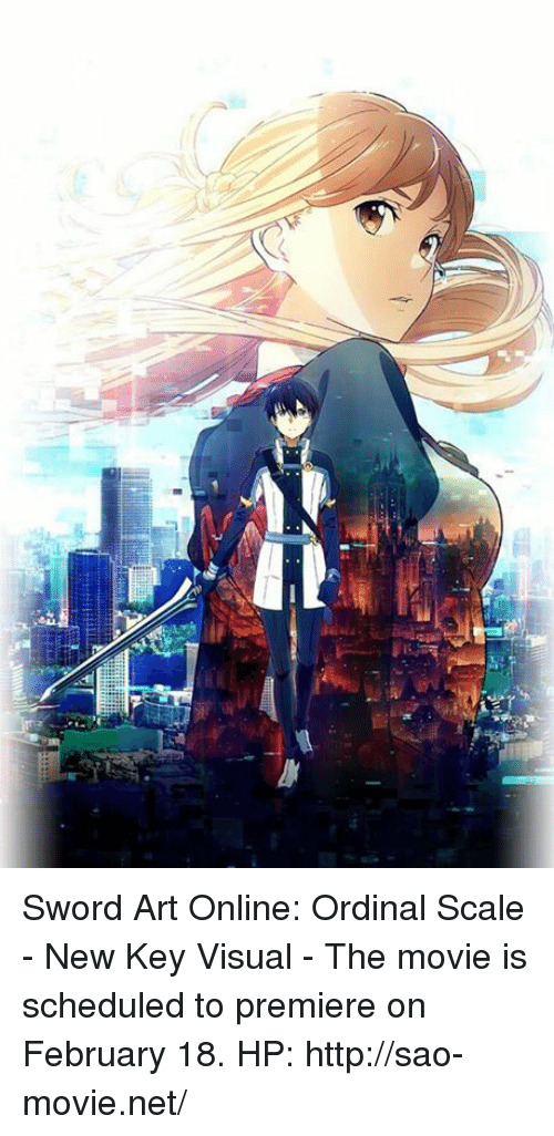 sword art online: M동 Sword Art Online: Ordinal Scale - New Key Visual  - The movie is scheduled to premiere on February 18.  HP: http://sao-movie.net/