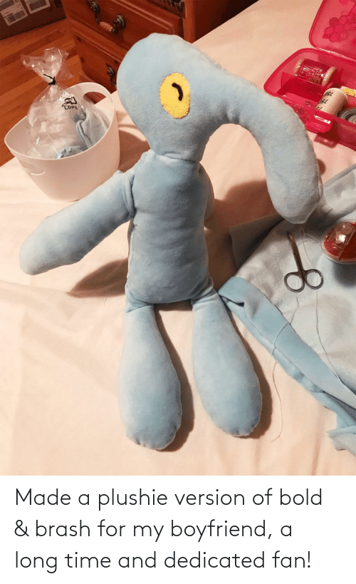 dedicated: Made a plushie version of bold & brash for my boyfriend, a long time and dedicated fan!