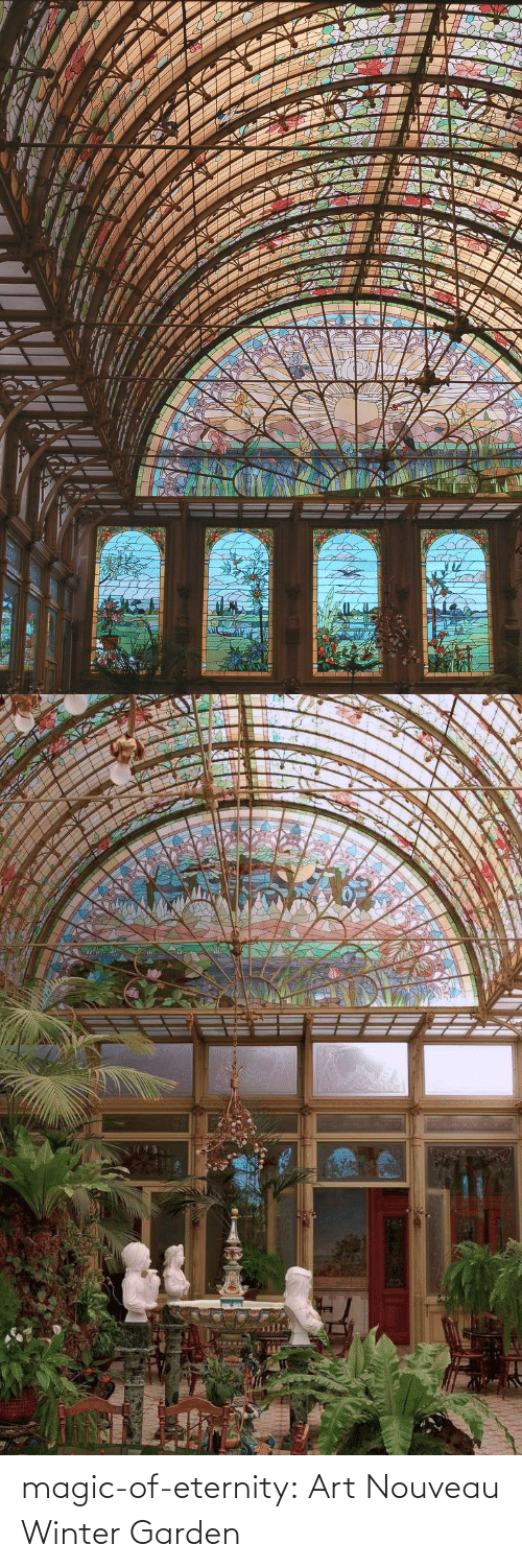 Tumblr, Winter, and Blog: magic-of-eternity: Art Nouveau Winter Garden