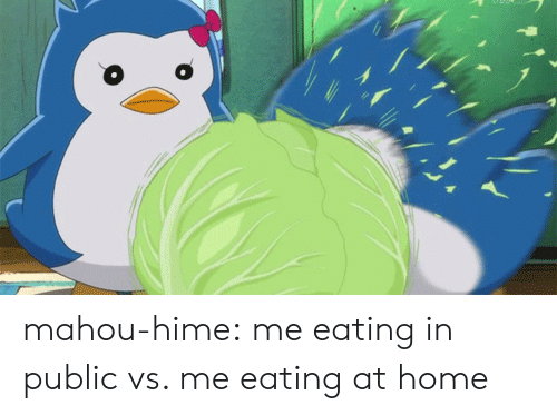 Tumblr, Blog, and Home: mahou-hime: me eating in public vs. me eating at home