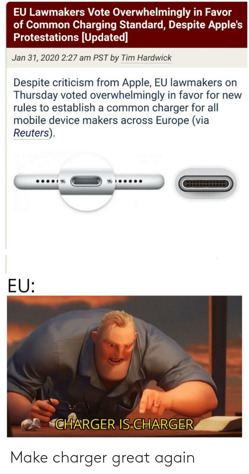 charger: Make charger great again