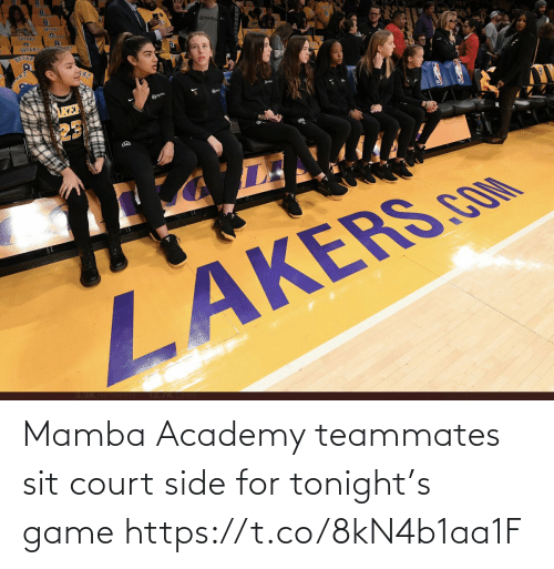 tonight: Mamba Academy teammates sit court side for tonight's game https://t.co/8kN4b1aa1F
