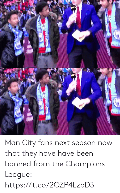 Banned: Man City fans next season now that they have have been banned from the Champions League: https://t.co/2OZP4LzbD3