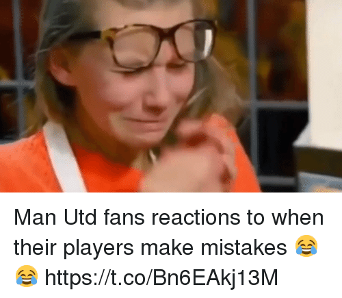 Soccer, Mistakes, and Man Utd: Man Utd fans reactions to when their players make mistakes 😂😂 https://t.co/Bn6EAkj13M