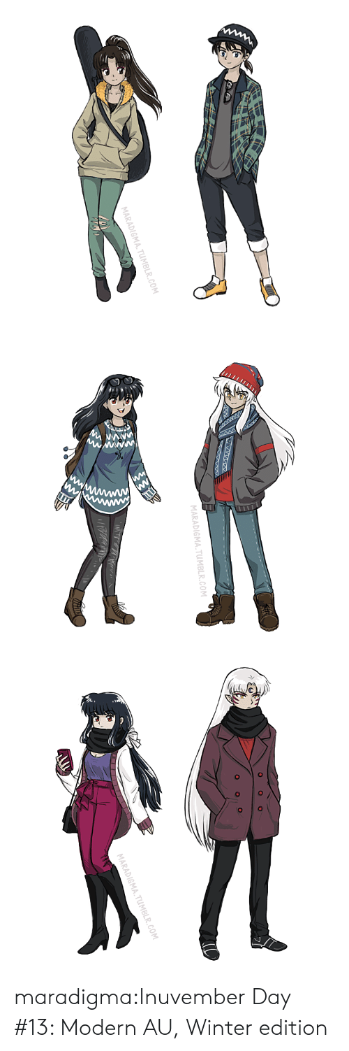 Target, Tumblr, and Winter: MARADIGMA.TUMBLR.COM   MARADIGMA.TUMBLR.COM   MARADIGMA.TUMBLR.COM maradigma:Inuvember Day #13: Modern AU, Winter edition