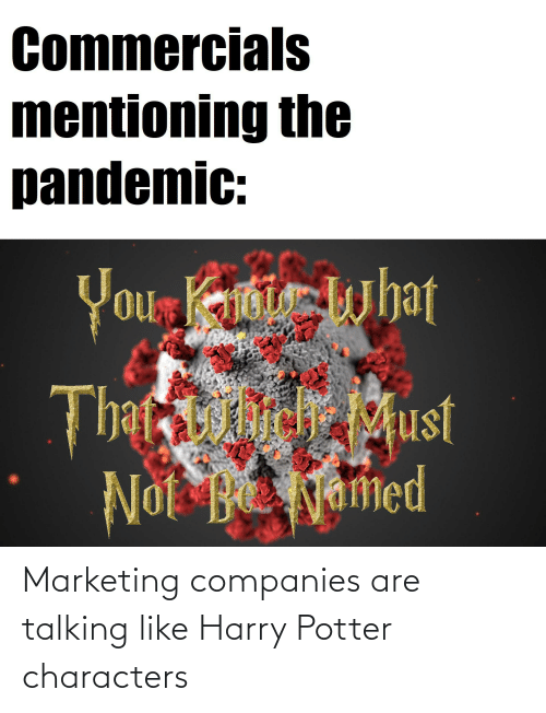 companies: Marketing companies are talking like Harry Potter characters