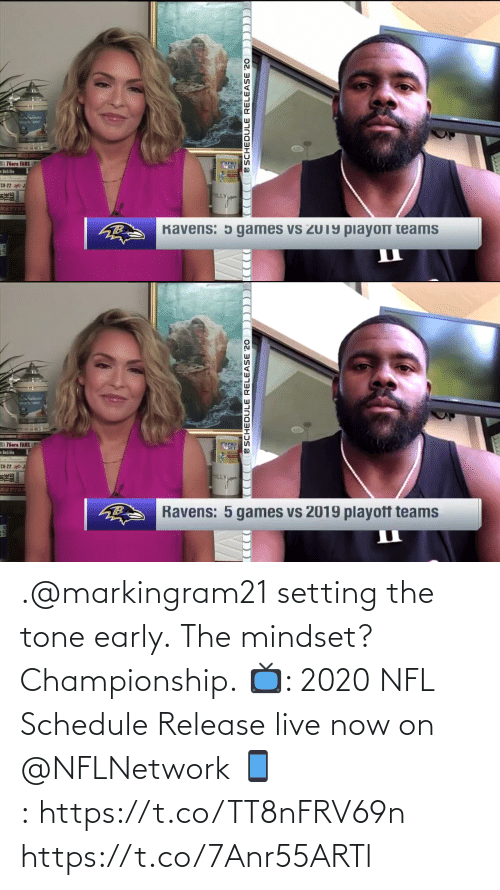 Championship: .@markingram21 setting the tone early.  The mindset? Championship.  📺: 2020 NFL Schedule Release live now on @NFLNetwork 📱:https://t.co/TT8nFRV69n https://t.co/7Anr55ARTl