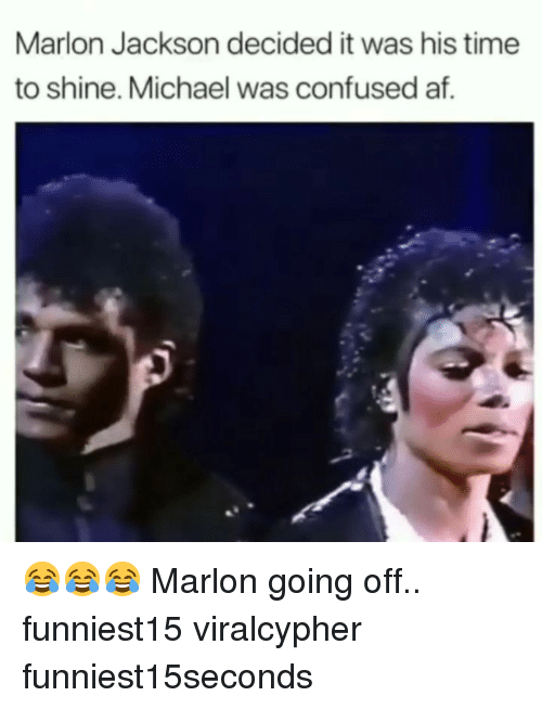 Af, Confused, and Funny: Marlon Jackson decided it was his time  to shine. Michael was confused af. 😂😂😂 Marlon going off.. funniest15 viralcypher funniest15seconds