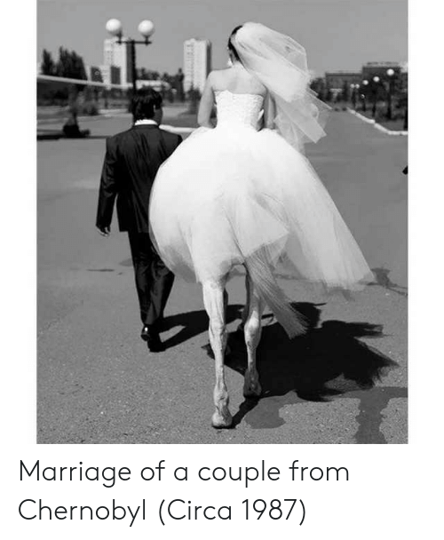 Marriage, Chernobyl, and Circa: Marriage of a couple from Chernobyl (Circa 1987)