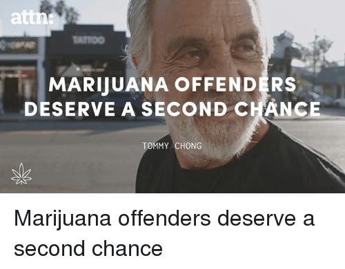 Tommy Chong: MARUUANA OFFENDERS  DESERVE A SECOND CHANCE  TOMMY CHONG Marijuana offenders deserve a second chance