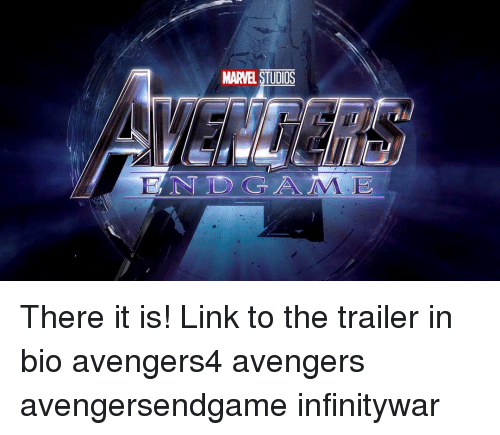 There It Is: MARVEL STUDIOS  ENDGAME There it is! Link to the trailer in bio avengers4 avengers avengersendgame infinitywar