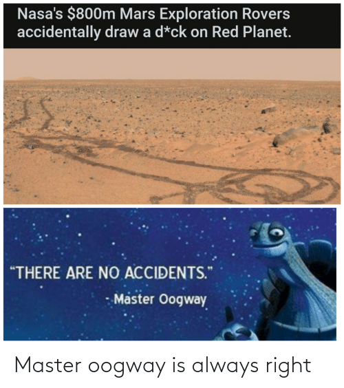 master: Master oogway is always right