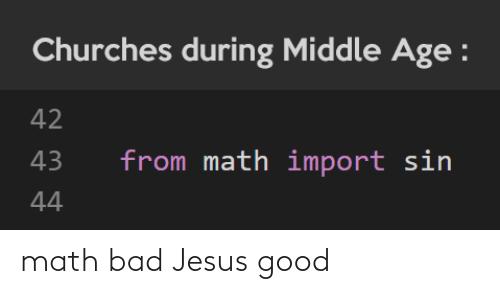 Math: math bad Jesus good