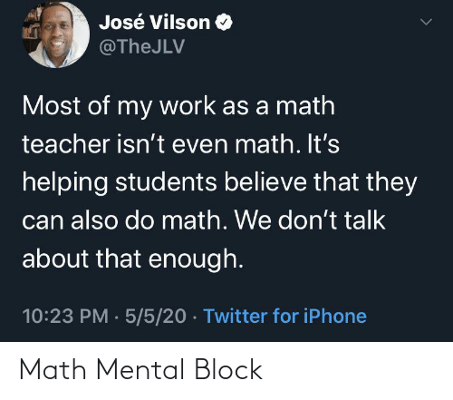 Math: Math Mental Block