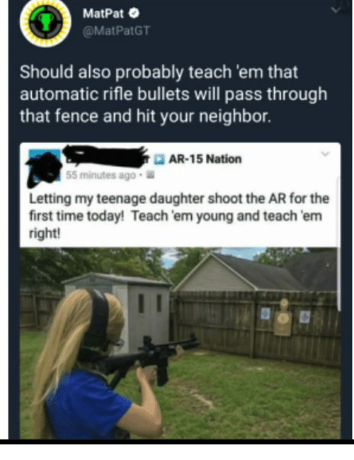 MatPat Should Also Probably Teach 'Em That Automatic Rifle