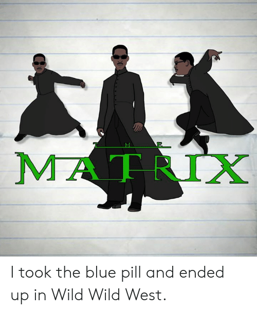 Matrix: MATRIX I took the blue pill and ended up in Wild Wild West.
