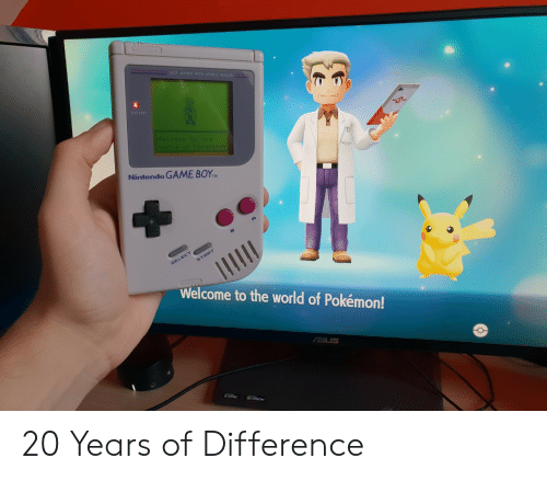 Matrix: MATRIX WITH STEREO  BATTERY  Nintendo GAME BOYM  Welcome to the world of Pokémon! 20 Years of Difference