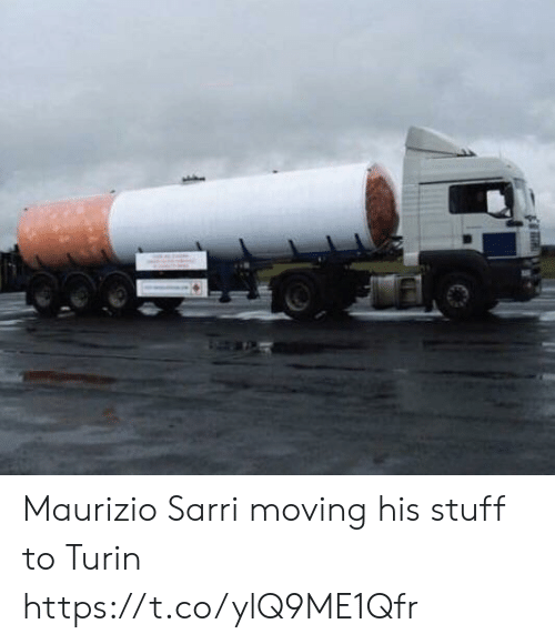 Memes, Stuff, and 🤖: Maurizio Sarri moving his stuff to Turin https://t.co/ylQ9ME1Qfr