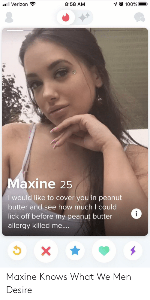 desire: Maxine Knows What We Men Desire