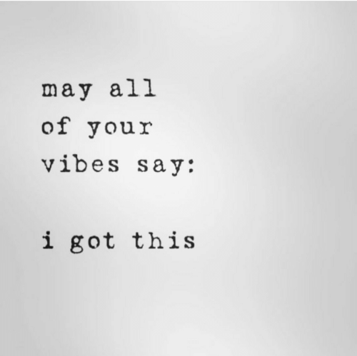 i got this: may all  of your  vibes say:  i got this